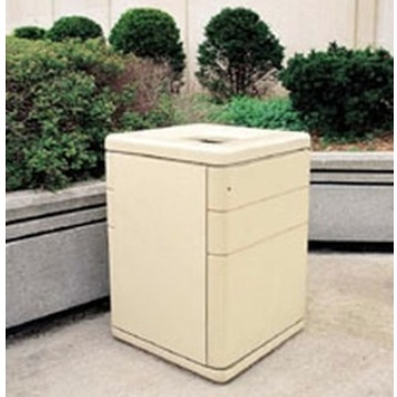 Precast Trash Can | Square | 45 Gallons | 1045