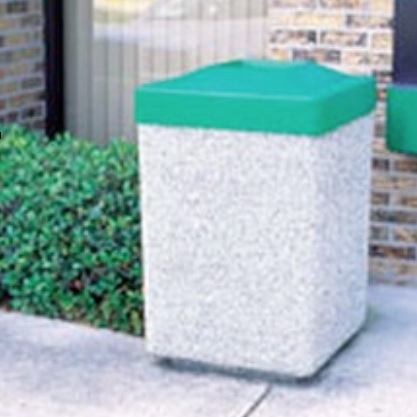 Precast Trash Can | Square | 45 Gallons | 1025
