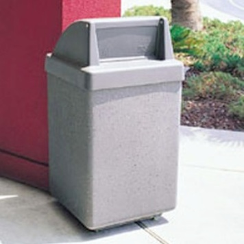 Precast Trash Can | Square | 45 Gallons | 1030