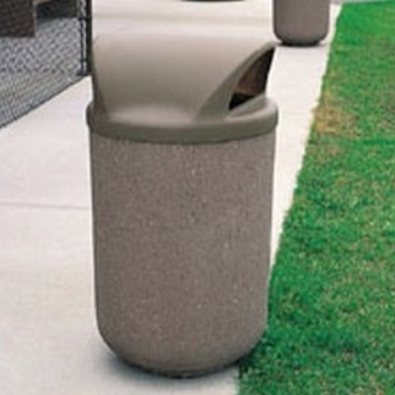 Precast Trash Can | Round | 53 Gallons | 1150