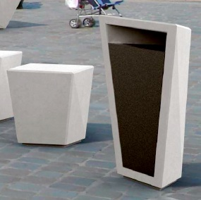 Precast Trash Can | Triangle | 9  Gallons | Paperboat