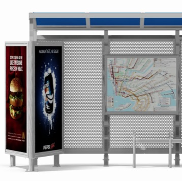 Bus Stop | Ad Display | V Angle