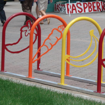 Bike Parking | Bike Rack Art | Fruit and Veggie