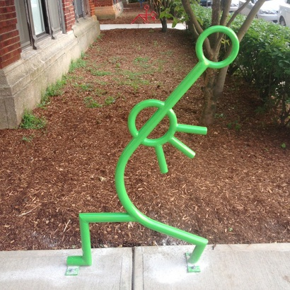 Bike Parking | Bike Rack Art | Yoga 1